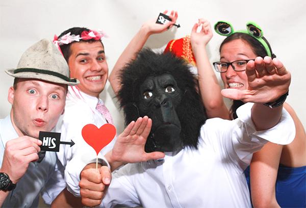 Affe in der Fotobox