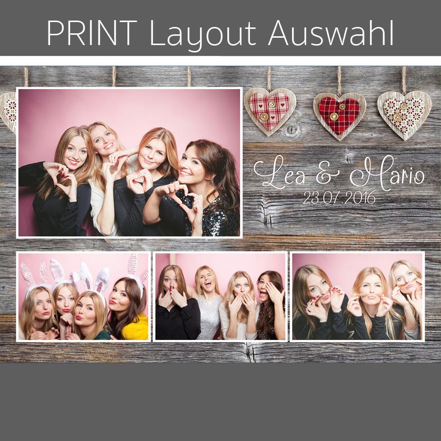 Photobooth Geburtstag Hintergrund Layout