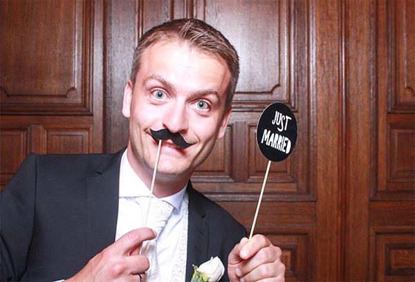 ausgefallenes Fotobox Bild von einer Hochzeit