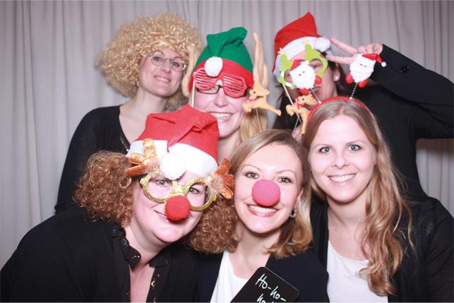 Fotobox Weihnachtsfeier bei den Eventhelden mieten